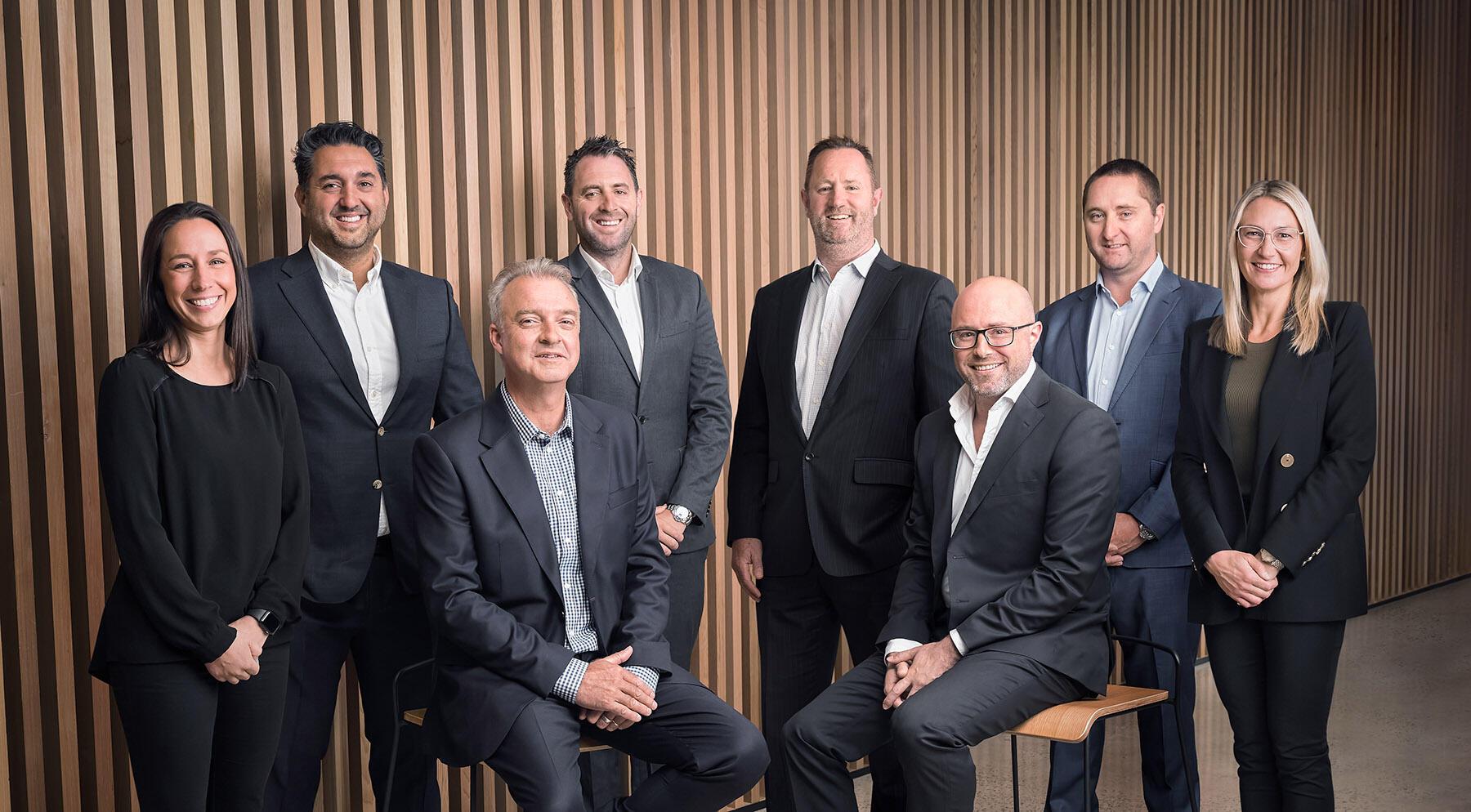 Symal's Leadership Team L-R: Angela Cilia, Joe Bartolo, Michael Lowrie, Ray Dando, Nicholas Murdoch, Nabeel  Sadaka, Andrew Fairbairn, Olivia Bartolo